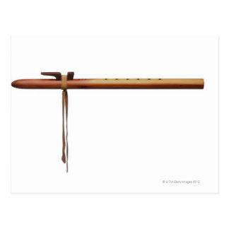Flauta del cedro del nativo americano tarjeta postal