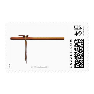Flauta del cedro del nativo americano timbres postales