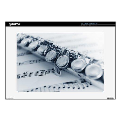 Flauta detallada portátil calcomanía