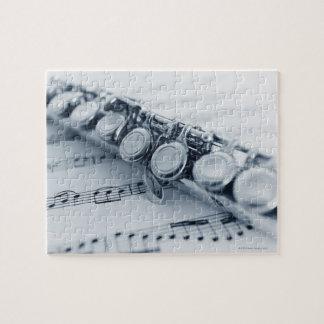 Flauta detallada rompecabezas con fotos