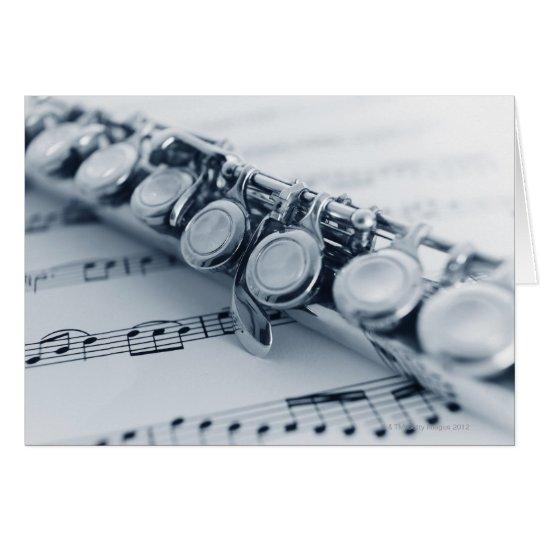 Flauta detallada tarjeta de felicitación