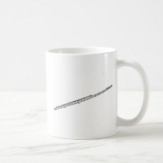 """Flauta """"dibujo """" taza básica blanca"""