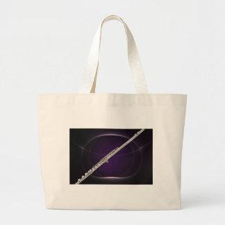 Flauta en púrpura bolsa de mano
