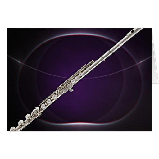 Flauta en púrpura tarjeton