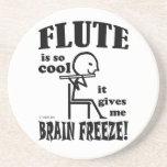 Flauta, helada del cerebro posavaso para bebida