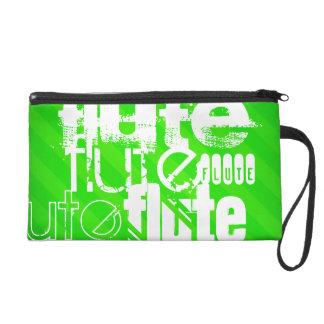 Flauta; Rayas verdes de neón