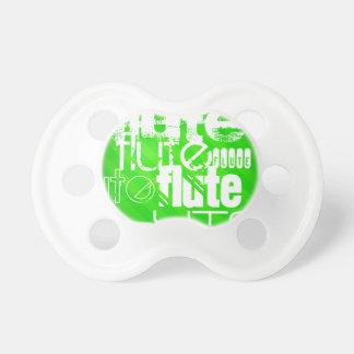Flauta; Rayas verdes de neón Chupete De Bebe