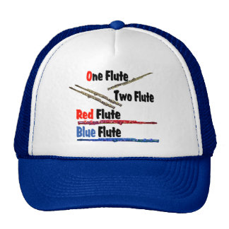 Flauta roja del azul de la flauta gorro