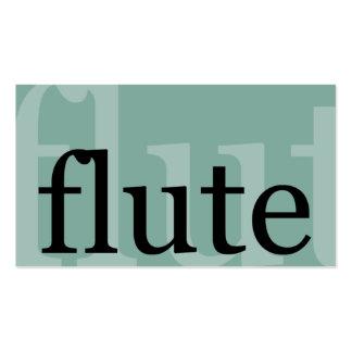 Flauta Tarjetas De Negocios