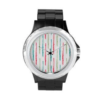 Flautas coloreadas multi reloj de mano