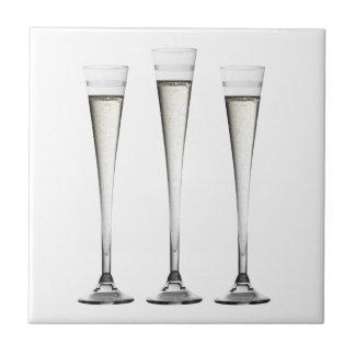 Flautas de champán tejas  cerámicas