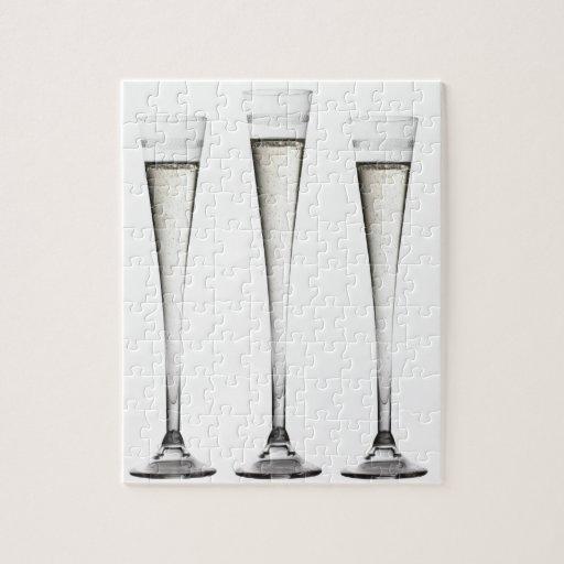 Flautas de champán puzzle con fotos