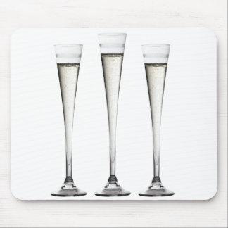 Flautas de champán alfombrilla de ratones