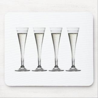Flautas de champán tapetes de raton