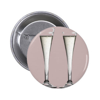 Flautas rosadas y blancas del vidrio de Champán Pin Redondo 5 Cm