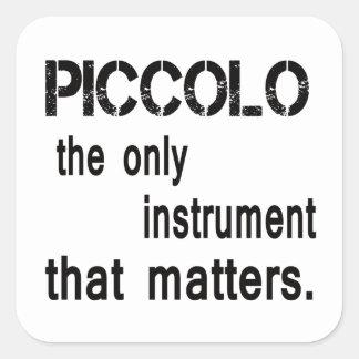 Flautín el único instrumento que importa pegatina cuadrada