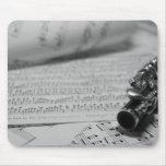 Flautín y cojín de ratón de la partitura tapetes de ratones