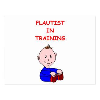 FLAUTIST POSTCARD