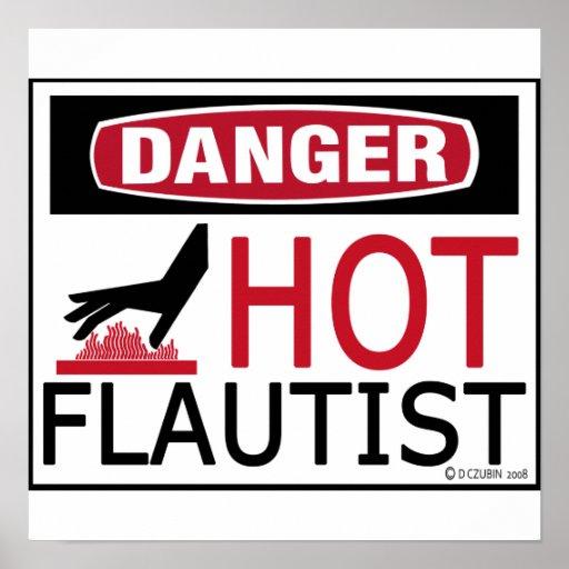 Flautista caliente póster
