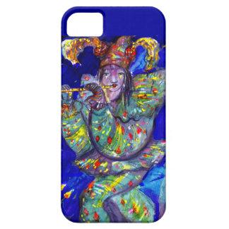 FLAUTISTA EN noche AZUL/veneciana del carnaval iPhone 5 Case-Mate Carcasas
