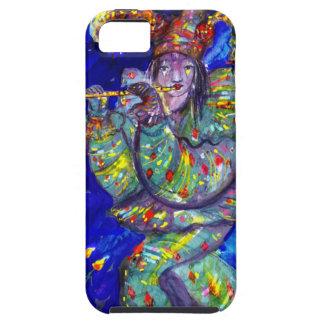 FLAUTISTA EN noche AZUL/veneciana del carnaval iPhone 5 Cobertura