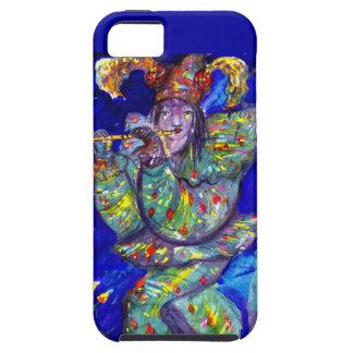 FLAUTISTA EN noche AZUL/veneciana del carnaval iPhone 5 Case-Mate Cárcasa