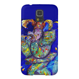 FLAUTISTA EN noche AZUL/veneciana del carnaval Carcasa Para Galaxy S5