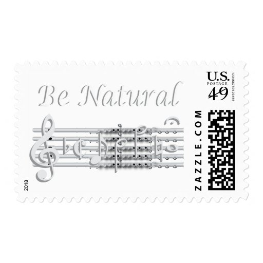 Flautists Know How to Be Natural Postage Stamps