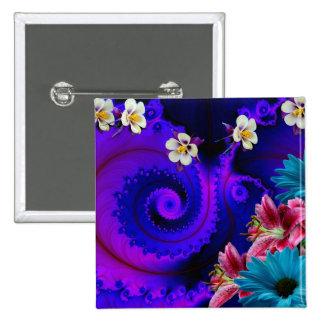 Flaver abstracto pin cuadrada 5 cm