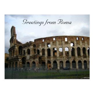 flavian colosseum postcard
