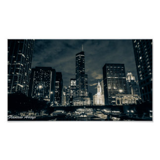 Flaviano Arroyo - Chicago By Night 1 Poster