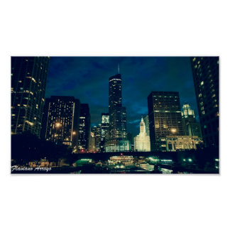 Flaviano Arroyo - Chicago By Night 2 Poster