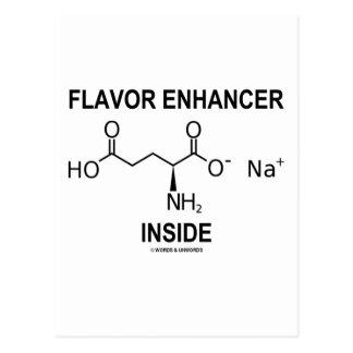 Flavor Enhancer Inside (Monosodium Glutamate) Postcard