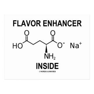 Flavor Enhancer Inside (Monosodium Glutamate) Post Card