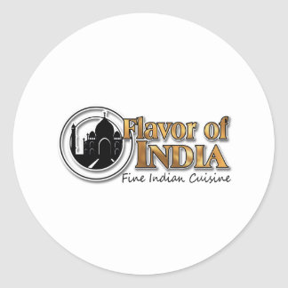 Flavor Of India Classic Round Sticker