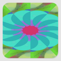 Flavored Philanthropy Pattern Square Sticker