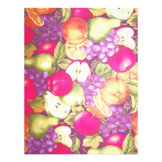 Flavorful Fruits Vintage Scrapbooking Paper Letterhead