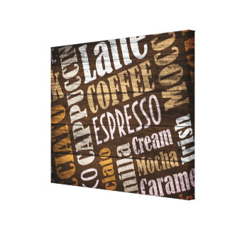 Flavors of Coffee Canvas Print