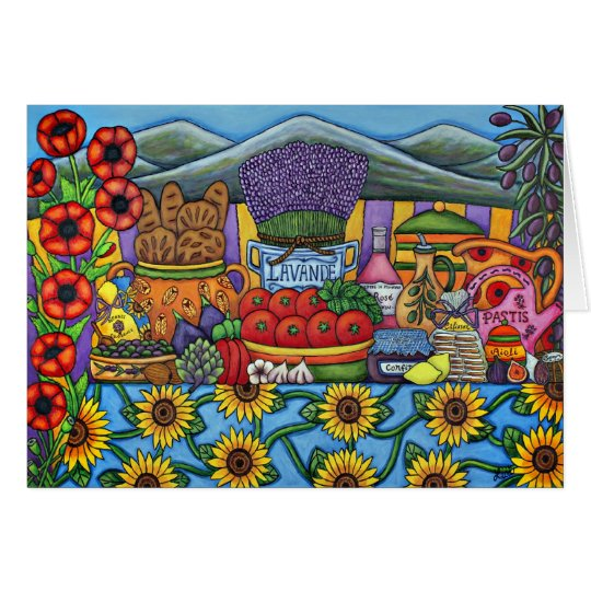 Flavours of Provence Greeting Card by Lisa Lorenz
