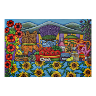 Flavours of Provence Print by Lisa Lorenz