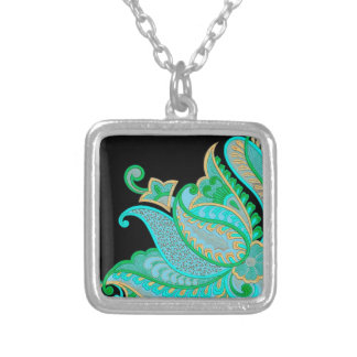Flawer Image Square Pendant Necklace