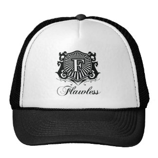 FLAWLESS BLACK AND WHITE HAT
