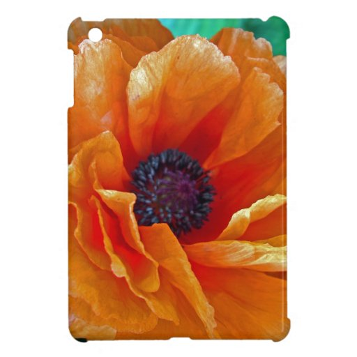 Flawless Bloom Shimmering Red Poppy Case For The iPad Mini