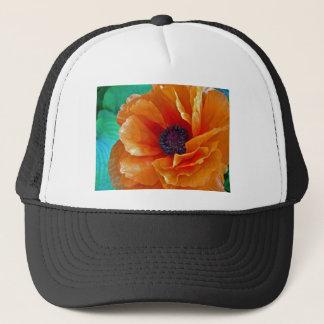 Flawless Bloom Shimmering Red Poppy Trucker Hat