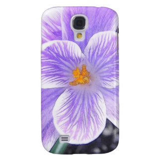 Flawless Purple Crocus Flower Samsung Galaxy S4 Cover