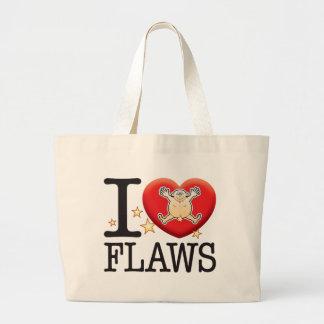 Flaws Love Man Jumbo Tote Bag