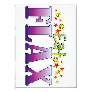 Flax Eat 5.5x7.5 Paper Invitation Card