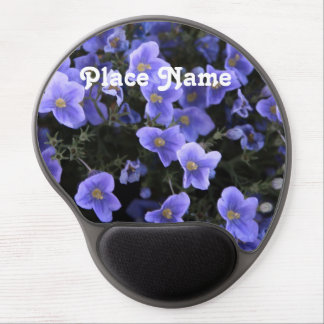 Flax Flowers Gel Mouse Pad