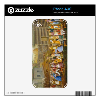 Flax Scutching Bee, 1885 (oil on bed ticking) iPhone 4 Skin