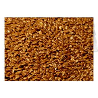 Flax seed card